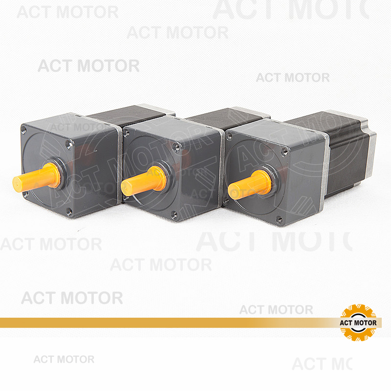 Top Quality!ACT Motor 3PCS  Stepper Geared Motor 23HS8430AG15 15:1 Ratio 3A 21N.m  CNC Router Laser Engraving Mill CutTop Quality!ACT Motor 3PCS  Stepper Geared Motor 23HS8430AG15 15:1 Ratio 3A 21N.m  CNC Router Laser Engraving Mill Cut