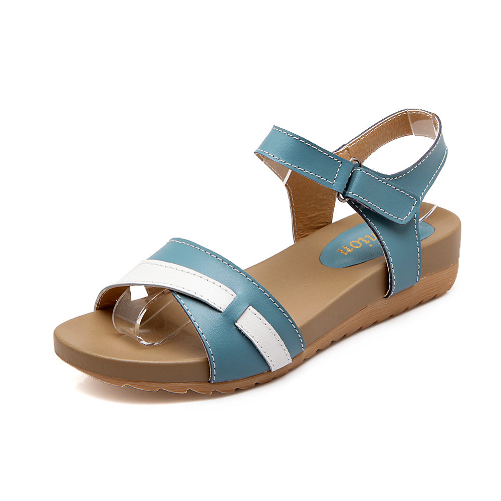 Women Sandals New 2017 Flat With Summer Beach Sandals Slip Flat Mom Pregnant Women Sandals Multicolor Size 35-40 рубашка для беременных pregnant mom baby