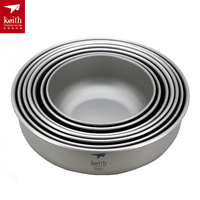 Keith A Set Of Titanium Plate Camping Plate Outdoor Tableware Ti5371/Ti5377