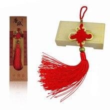 1pcs/lot Goldside Chinese Knot Tassels Handmade Silk Copper Coin Pendant Long Rayon Thread Lucky Charm Home Decor Hanger