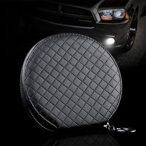 Image 3 - Ymjywl חדש אופנה רכב סריג CD תיבת עבור DVD מקרה אספקת רכב תיבת אחסון בית רכב מחזיק באיכות גבוהה עור CD תיק