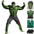 The Avengers Hulk Cosplay de Halloween para los niños Disfraces de Carnaval De Disfraces para niños Ropa de Niños Regalos Fantasy Máscara Músculo