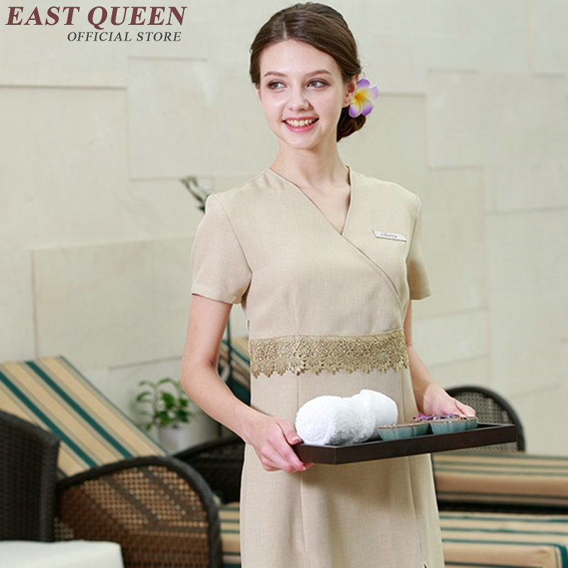 Wholesale uniform for beauty salon service center work wear uniform beautician uniforms SPA health club work wear AA2696 YQ