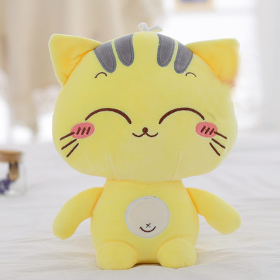 yellow cat doll plush toy lovely cat large 55cm doll soft throw pillow, birthday gift x064 lovely glasses panda large 90cm plush toy panda doll soft hugging pillow proposal birthday gift x028