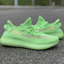 2019 Wholesales Green Glow In The Dark 350 Running Shoes Kan