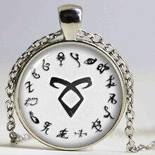 1 unids hunters Rune Shadowhunter city necklace necklace crystal necklace bones Cabochon HZ1