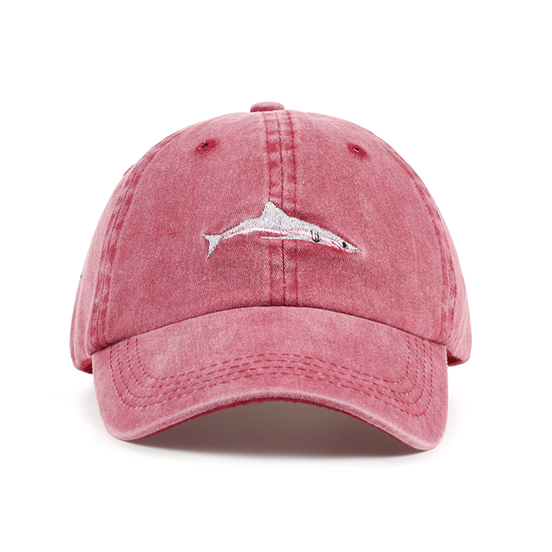 Snapback Hat Baseball-Cap Sports-Hats Shark-Embroidery Water-Wash Women Cotton for High-Quality