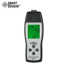 SMART SENSOR Digital Tachometer rpm meter mini 100RPM-30000RPM Photo Motor Speed Meter Laser Non-Contact  + 3pcs Reflective Tape цены