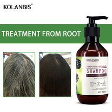 Permanent Black Color Anti Gray Hair Shampoo Treatment White Removal Natural Herbal