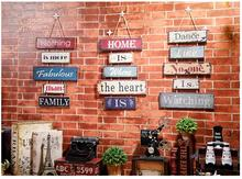 American-made Old Industrial Wind Series Listed Wooden Nostalgic Restaurant Wood Wall Shop Decoration 0582