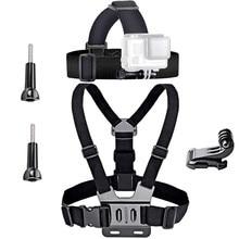 Универсальные аксессуары для экшн камеры Набор для Gopro 7 6 экшн камеры Go Pro для крепления на голове обхватывающие грудь ремни винт адаптер с наружной резьбой Камера комплект аксессуаров