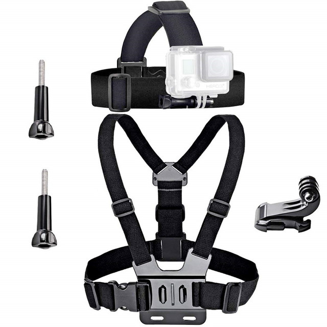 Universal Action accessories set For Gopro 7 6 Go Pro Head Strap Mount Chest Strap Harness Screw Adapter Camera Accessories Kit
