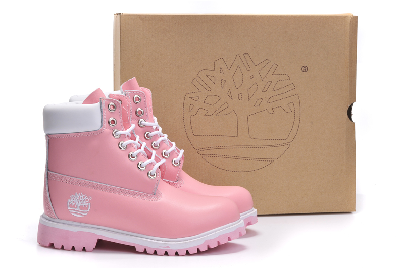 TIMBERLAND Women Classic 10061 Light Pink Spring/Autumn Martin Boots,Woman Popular High Top Solid Color Leather Ankle Shoes  4