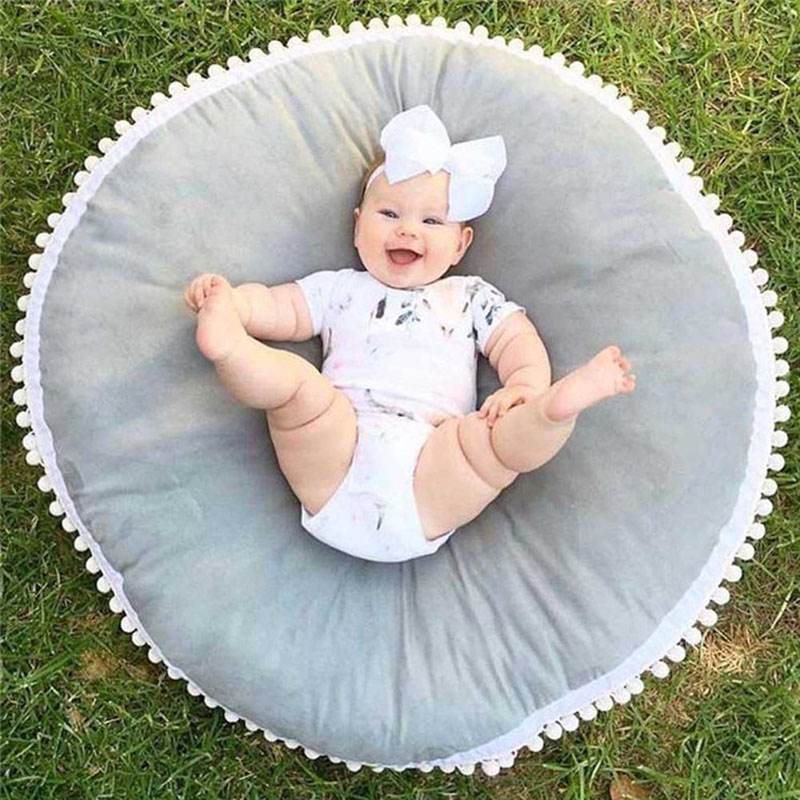 Baby Seat Lounger Soft Toddler Floor Pillow/cushion Infant Newborn Seating Cushion & Play Mat Round Crawling Mat For Kids