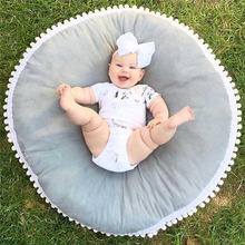 Baby seat lounger soft toddler floor pillow/cushion infant newborn seating cushion & play mat round crawling for kids