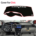 Car-Styling Dashboard Car Covers Mats Shade Cushion Carpet Photophobism Pad For Honda Civic 9 Generation 2013 2014 2015 LHD