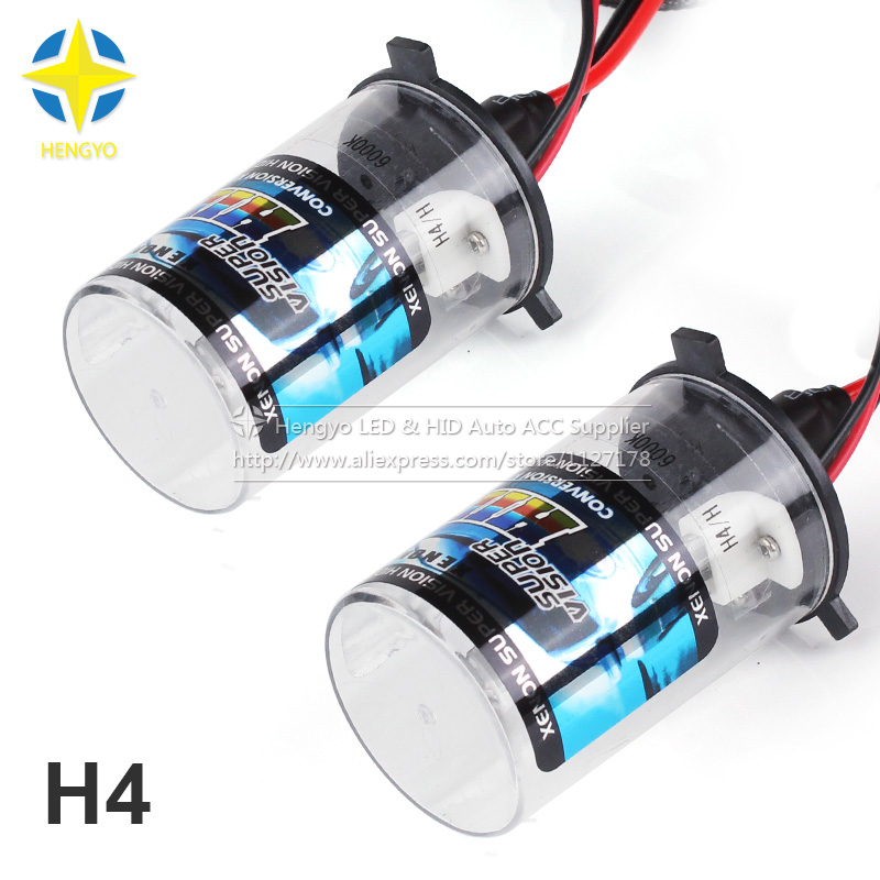 HID 35W <font><b>H4</b></font> Super Vision <font><b>Xenon</b></font> HID Vehicle Warm White Light Headlamp <font><b>Kit</b></font> 2-Pack 4300k 5000k 6000k 8000k <font><b>10000k</b></font> 12000k image