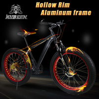 26 Inch 24 Speed Cross Country Mountain Bike Aluminum Frame Snow Beach 4 0 Oversized Bicycle