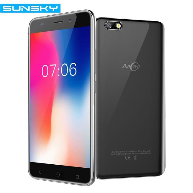 AllCall Madrid 5.5 Inch Dual SIM HD Android 7.0 Smartphone MT6580A Quad Core 1.3GHz 1GB RAM 8GB ROM 8.0MP 3G WCDMA Mobile Phone