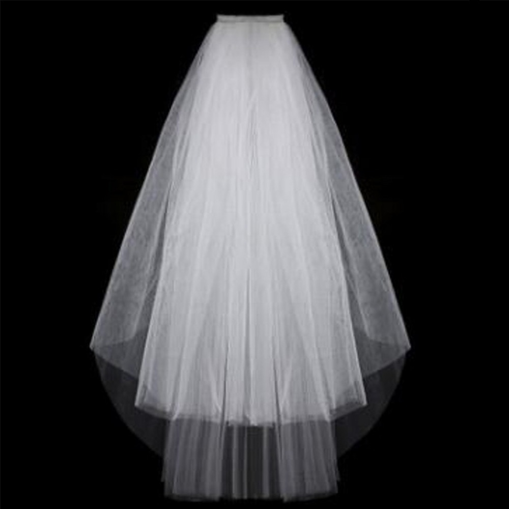 Short Tulle Wedding Veils Cheap White Ivory Bridal Veil For Bride For Mariage Wedding Accessories Wedding Veil Short