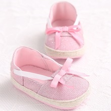 Female baby spring and autumn period 0-1 year old bowknot foot soft bottom baby toddler shoe  L174