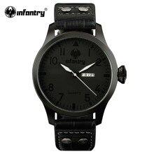 Мужские часы в армейском стиле, мужские часы-пилот, черный цвет, мужские часы, Топ бренд, люкс класс, кожа, часы в армейском стиле, дата, день, мода, Relogio Masculino