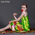 New Silk women Nightdress Dream Butterfly Spaghetti Strap Spring Summer Homewear Nightgown