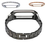 Replacement Xiaomi Mi Band 2 Strap Stainless Steel Watchband Xiaomi Mi Band 2 Wearable Accessories Wrist
