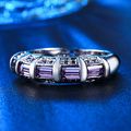 Luxury Amethyst Rings Women Men Punk Watch Jewel Wedding Male Ring Female CZ Diamond White 925 Sterling Silver bague Gift HH244