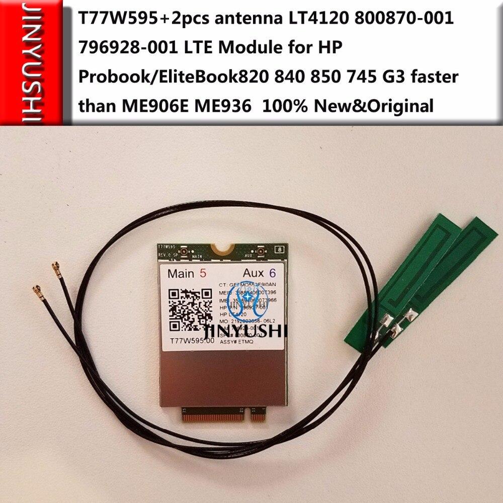 T77W595 + 2 pz antenna LT4120 Snapdragon X5 LTE Modulo per HP Probook/EliteBook820 840 850 745 G3 più veloce rispetto ME906E ME936-in Modem da Computer e ufficio su  Gruppo 1