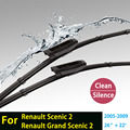 "Wiper blades for Renault Scenic 2 (2005-2009) 26""+22"" fit bayonet type wiper arms only HY-015"