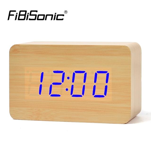 551e308ec66 FiBiSonic Atacado Madeira Madeira Despertadores