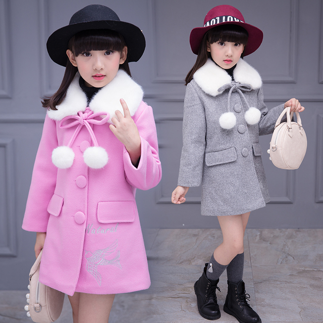 New Kids Jacket Children's Autumn Coat Fashion Baby Coat Girl's Outfits Baby Jacket Windbreaker for Girls Kids Wool Coat B439