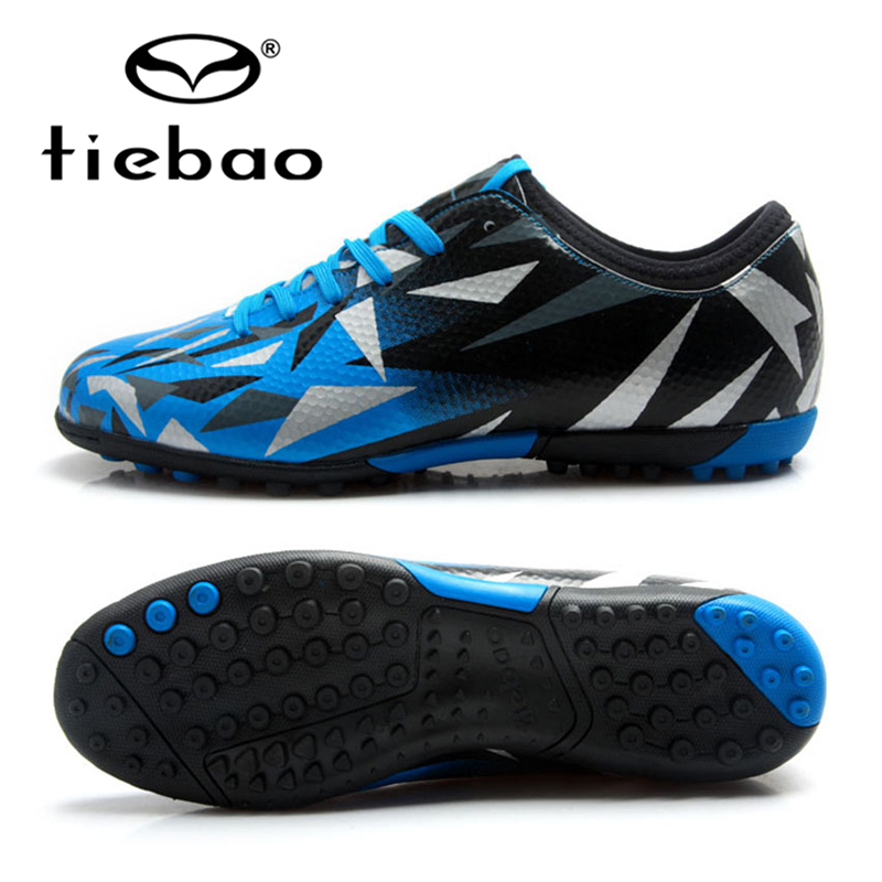 TIEBAO Botas De Futbol Kids Football Shoes TF Turf Soles Boys Girls Training Soccer Shoes Outdoor Sports Sneakers Size 30-38 tiebao professional size 36 43 soccer shoes mens football training sneakers tf turf soles boots outdoor botas de futbol