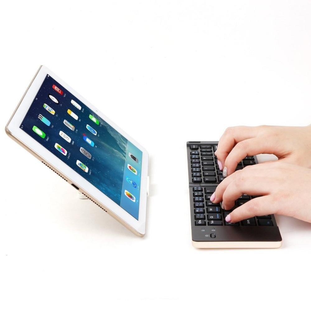 Foldable Mini Wireless Keyboard Bluetooth 3.0 66 Keys Ultra Thin Aluminum Alloy Keyboard Universal for Tablet PC Smart Phone HOT mini ultra thin universal bluetooth v2 0 59 key keyboard for android red white