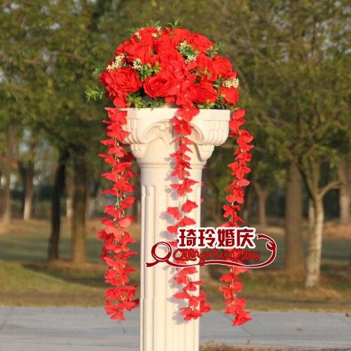 Свадебные композиция Диаметр Цветок свадебное оформление букета цветок для дорожного свинец римская колонна 4 шт./лот - Цвет: 8