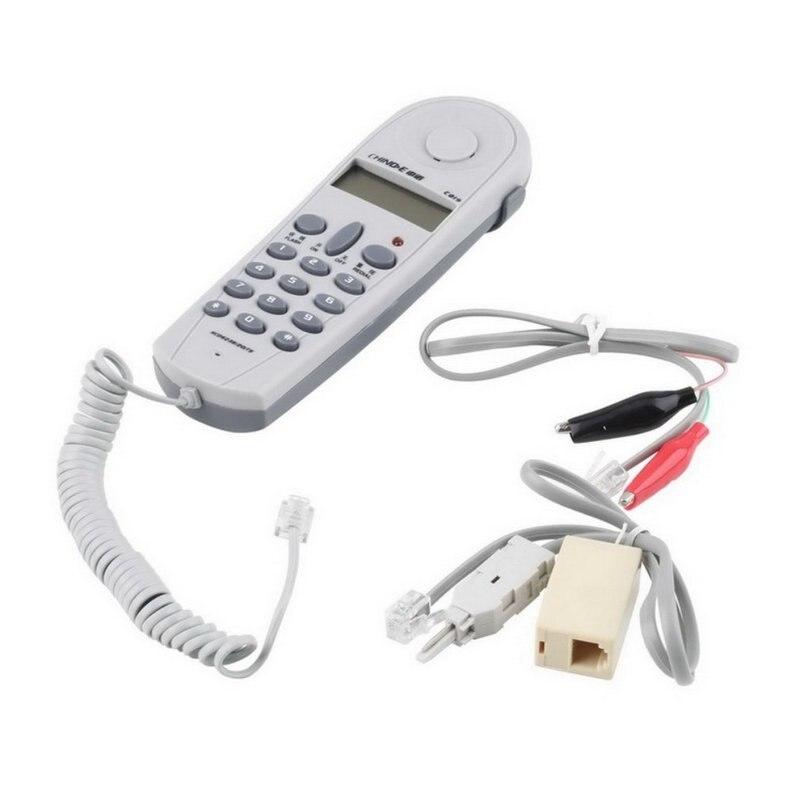 Probador de prueba de tope de teléfono para teléfono herramienta Lineman conjunto de Cable de red probador de Cable de red con conectores Y Joiner C019