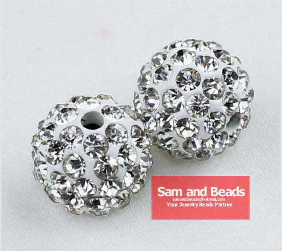 Beads & Jewelry Making Pack 10mm Light Blue Top Quality Czech Crystal Rhinestones Pave Clay Round Disco Ball Spacer Beads For Jewelry 100pcs