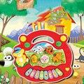 Crianças Animal da Fazenda Música de Piano Brinquedos Educativos De Desenvolvimento Presente Vermelho