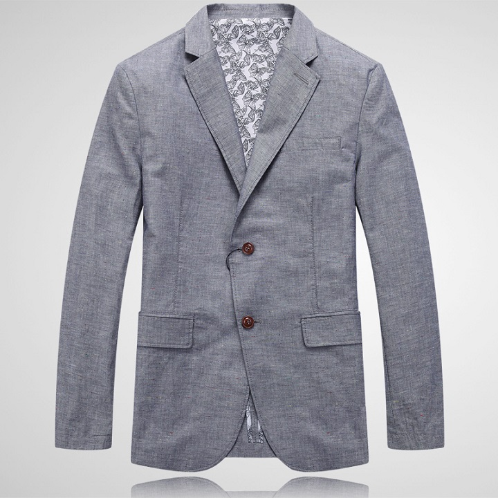 new arrival spring and summer casual men's clothing linen blazer fashion male dishabille suit plus size 48 50 52 54 56