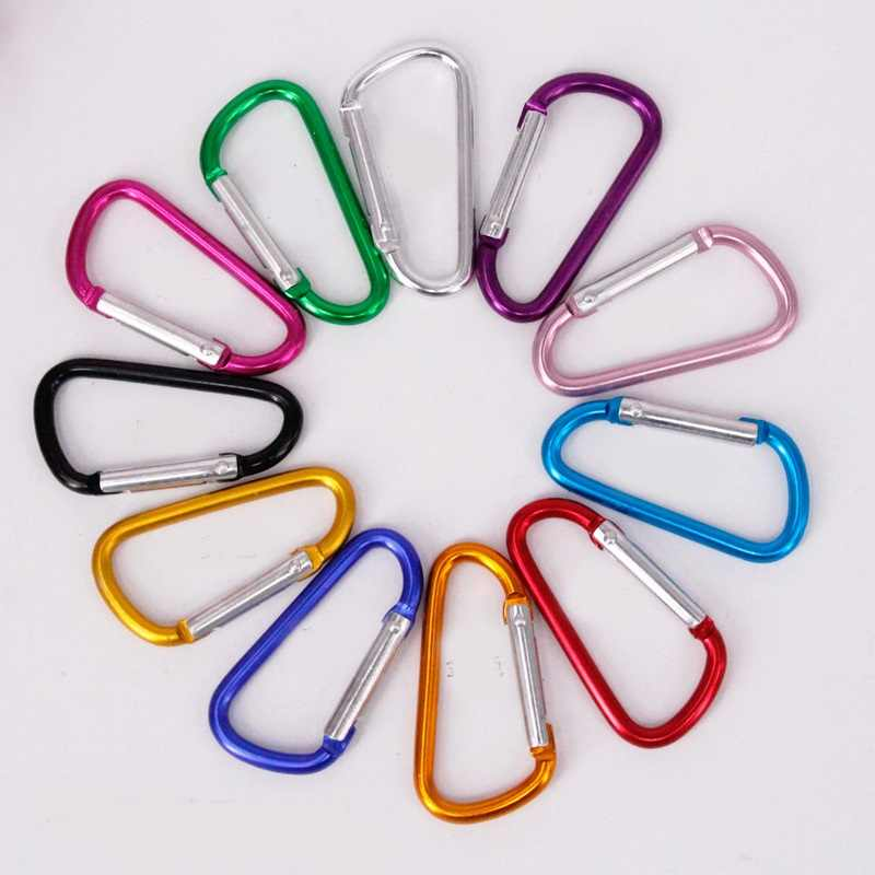 5# Multicolor Aluminum Spring Carabiner Snap Clip Hook Hanger Keychain Hiking Camping Water Bottle Backpack Bag Parts Wh