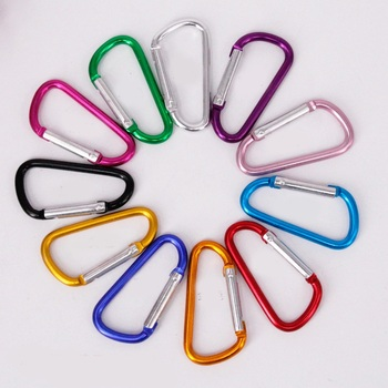 5# Multicolor Aluminum Spring Carabiner Snap Clip Hook Hanger Keychain Hiking Camping Water Bottle Backpack Bag Parts Wh image