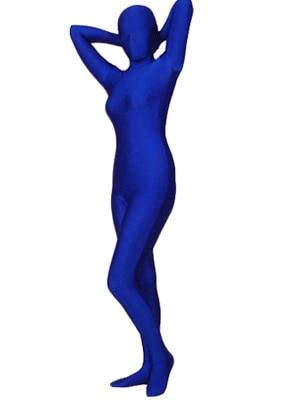Dark Blue Color Lycra Spandex Fullbody Zentai Suit Cosplay Costume Freeshipping Zentai Catsuit Bodysuit