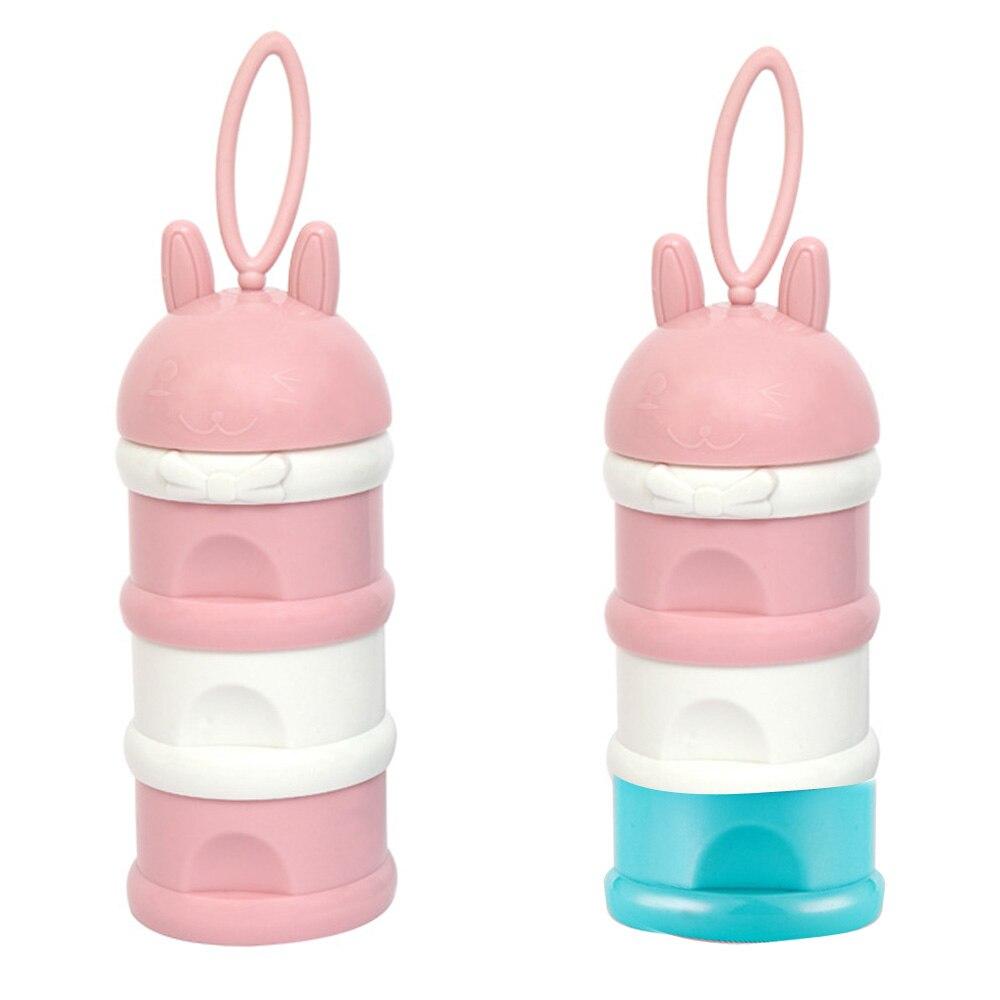 Baby Milk Powder Box Milk Powder Box Infant Milk Powder Box Three-Layer Polypropylene Dispenser Toddler Feeding Cute Newborn