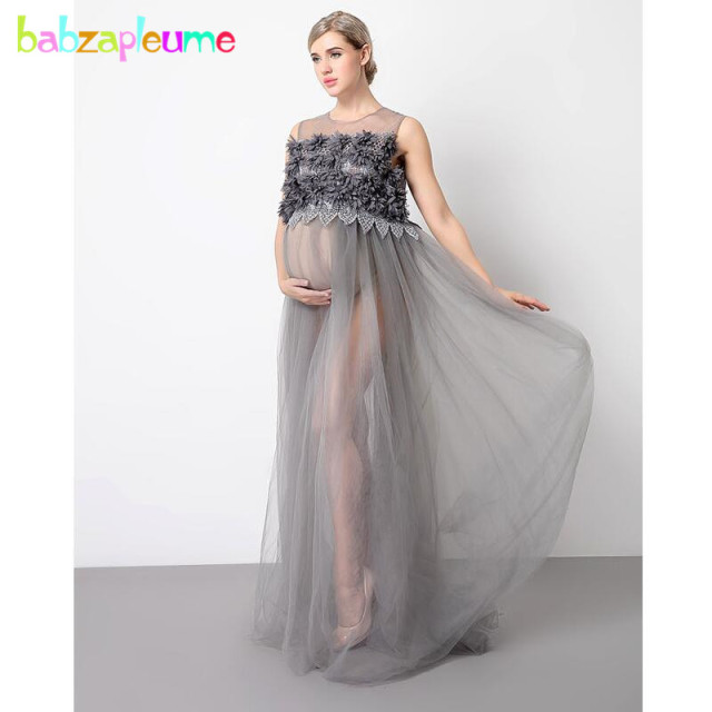 2018 New Summer Pregnancy Clothes Plus Size Maternity Gown Dress ...