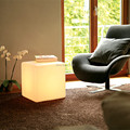 2 шт./лот открытый водонепроницаемый 50 СМ СВЕТЯЩИЕСЯ аккумуляторная светящийся куб привело стул барный барные стулья сид дистанционного управления куба таблица