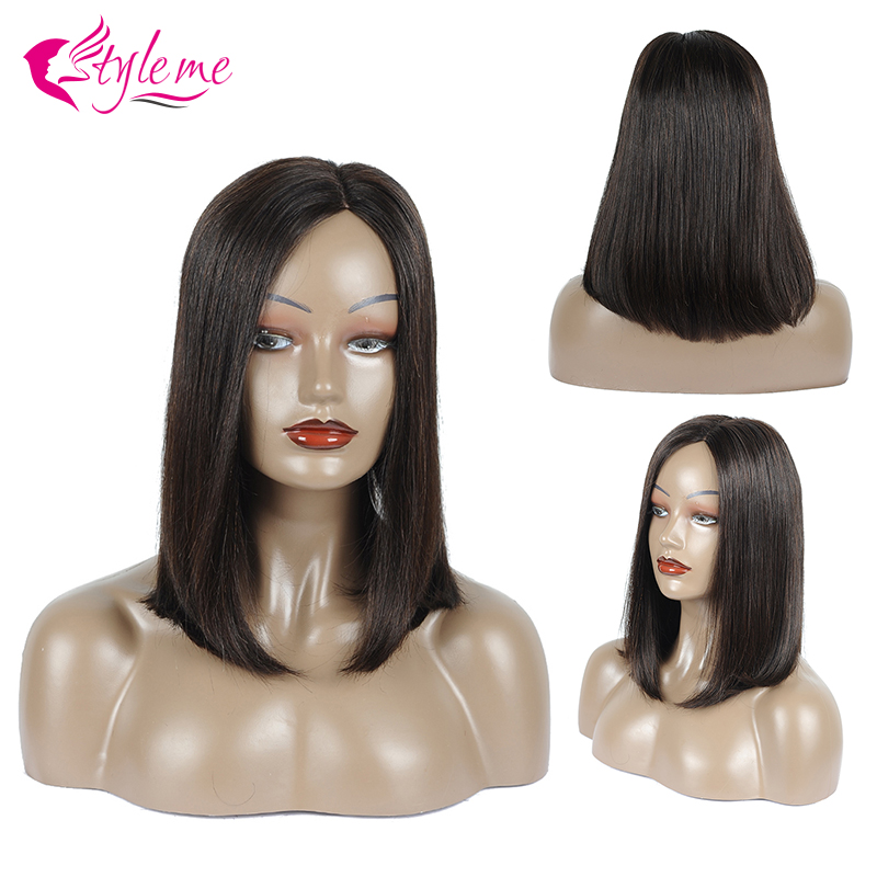 Hair-Wig Wigs Remy-Hair Pre-Plucked Natural-Color Straight Black-Women Brazilian Huamn