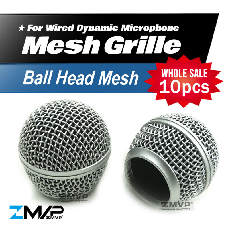 Free Shipping 10pcs/lot Professional Replacement Ball Head Mesh Grille Accessories For Shure BETA58 BETA58A SM58 SM58S SM58LC