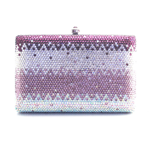 Clutch Purple Crystal Luxury Women Clutch Bag Ladies Rhinestone Party Bag Designer Crystal Purse(1016-GP4)