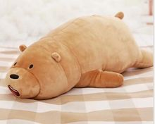 big brown plush lying bear toy cute soft bear pillow doll gift about 90cm 2572